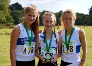 Ellie, Hannah and Ellie win gold