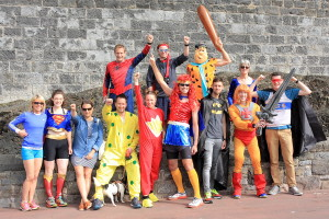 Our superheroes gather for 210 miles of fun